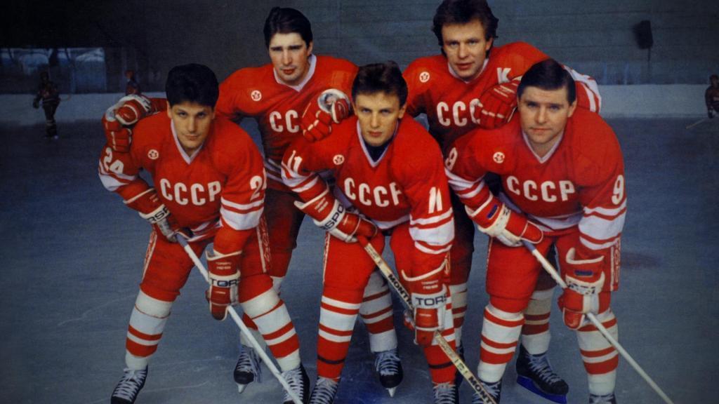 легендарная пятёрка хоккеистов СССР - Фетисов, Касатонов, Крутов, Ларионов, Макаров